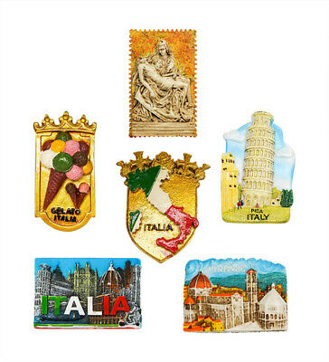 3D Resin Fridge Magnet Tourist Travel Souvenir Memorabilia - Italy