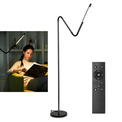 LE Modern Touch LED Floor Lamp Remote Control Flexible Gooseneck Standing Light