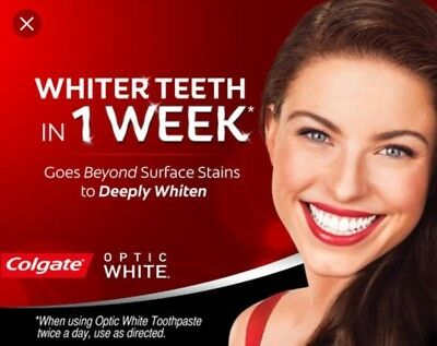 2 Pack Colgate Optic Whiter Teeth In One Week Sparkling White