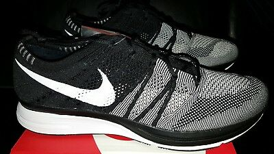 5702a8e62d69 DS Nike Flyknit Trainer 2018 size 9.5 Black White Oreo Kanye Racer with  receipt