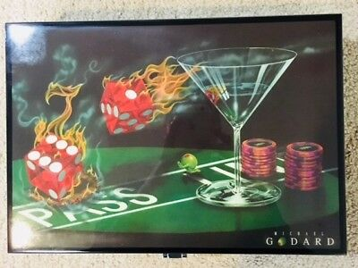 """* LIMITED EDITION * COLLECTOR POKER SET * """"PRAYING FOR SEVEN"""" by MICHAEL GODARD"""