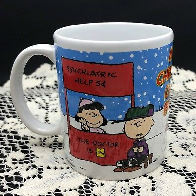 Merry Christmas Charlie Brown Handled Mug - Galerie - Charlie & Lucy & Snoopy