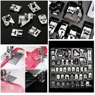 52 pcs Domestic Electric Sewing Machine Foot Presser Feet Kit Household FK