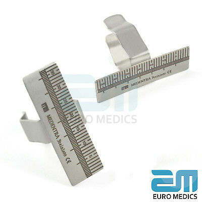 New Dentist Dental Finger Ruler 35mm Useful Surgical Instrument Endodontic Gauge