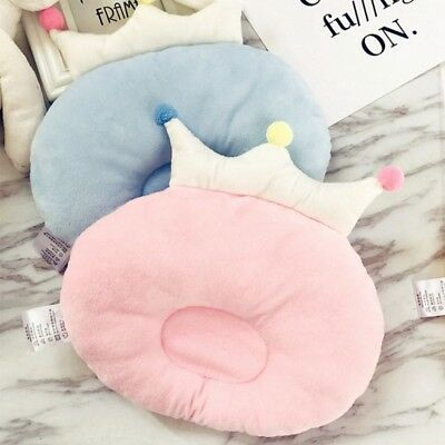 Infant Baby Kid Cute Crown Round Shape Pillow Cotton Pillow Prevent Flat Head UK