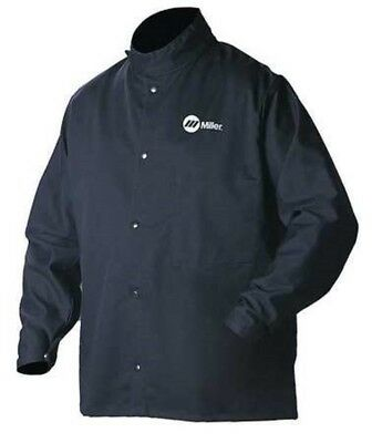 Miller Electric 244754 Welding Jacket | Flame-retardant Navy, Cotton/Nylon (2XL)
