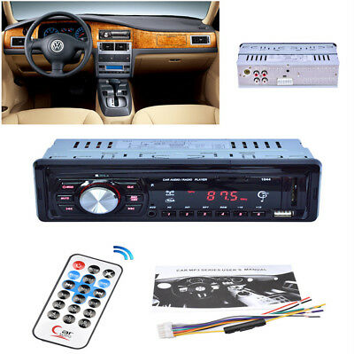 12V Car Radio Player Audio Auto Stereo 1 Din FM Receiver MP3 Support USB/SD/MMC