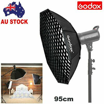 Godox 95cm Octagon Bowens Mount Softbox With Grid Octabox For Strobe Flash Head