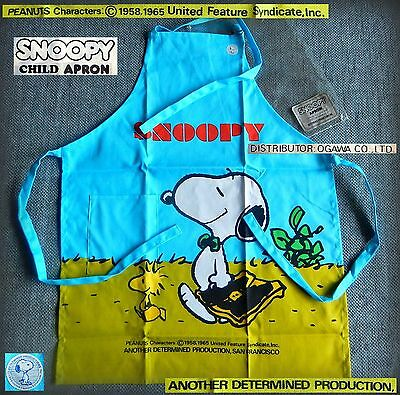 SNOOPY Peanuts PURE VINTAGE Grembiule cucina BAMBINO CHILD Apron 1980 BELLISSIMO