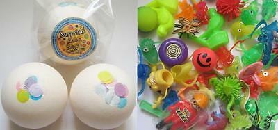 2 x JUMBO PARTY TOY SURPRISE 200G BATH BOMBS WITH ESSENTIAL OILS*