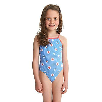 ZOGGS Girls Holiday Yaroomba Floral Swimsuit - Blue/Multi
