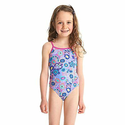 ZOGGS Girls Wild Yaroomba Floral Swimsuit - Lilac/Multi