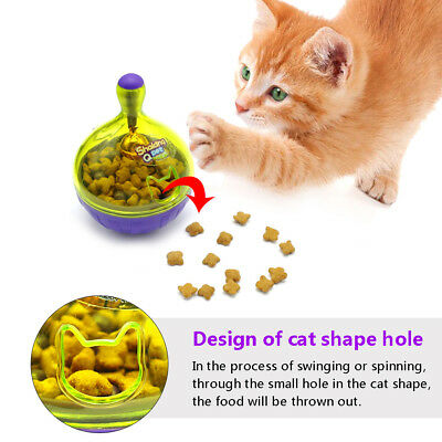 Cat Treat Ball Toy Smarter Pet Ball Toy Food  Dispenser For Cat Playing
