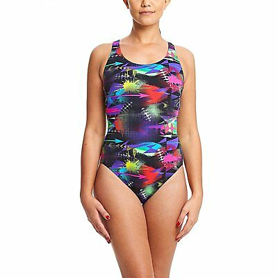 ZOGGS Women Arrow Actionback Swimsuit - Multi