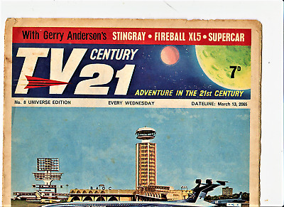 TV CENTURY 21 # 8 March 13 1965/2065 Stingray/Daleks/Fireball xl5/Lady Penelope