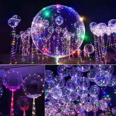 LED Balloons 4 Pack Light Up Balloons PERFECT PARTY Decoration Wedding BirthdBI