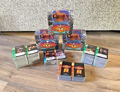 Large Bundle/ Joblot Of WCW Nitro Trading Cards- Over 1000 Cards- Boxes- 2000