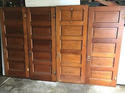 4 Antique 5 Raised Panel Interior Sliding Barn Pinterest Pine Wood Doors Pickup