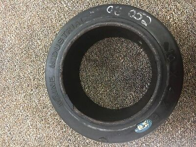 "New Rubber Fork Lift/Utility Wheel Tire 10"" x 4 "" x 6 1/2 "" , Maine Industrial"