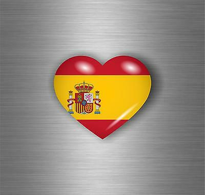 Sticker car motorrad tuning spain flag spanish heart