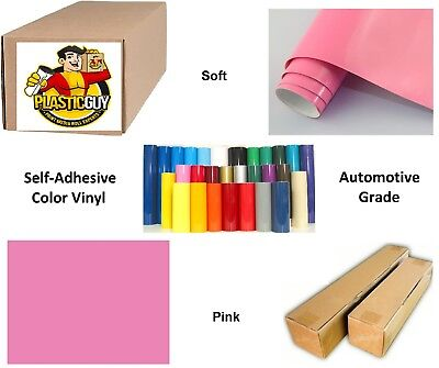 "24"" x 50yd 6yr outdoor sign vinyl film craft hobby roll sheet pink"