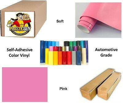 "Pink Self-Adhesive Sign Vinyl 15"" x 150 ft or 50 yd (1 Roll)"
