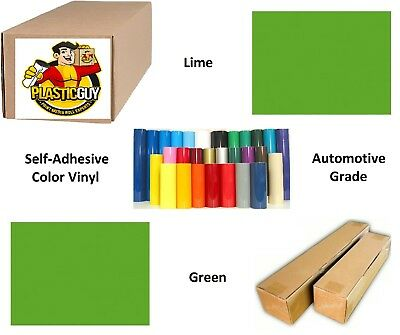 "Lime Green Self-Adhesive Sign Vinyl 15"" x 150 ft or 50 yd (1 Roll)"