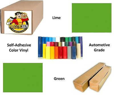 "Lime Green Self-Adhesive Sign Vinyl 48"" x 150 ft or 50 yd (1 Roll)"