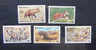 Botswana 1977 Diminishing Species set MNH ANIMALS