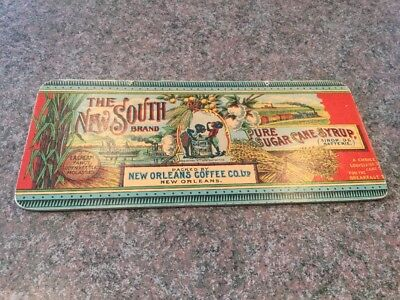 Vintage Advertising, New Orleans Coffee Co. Pure Cane Syrup, New South Brand