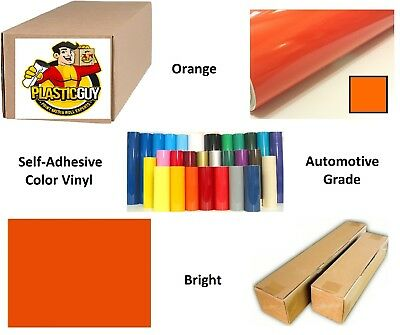 "Orange Self-Adhesive Sign Vinyl 15"" x 150 ft or 50 yd (1 Roll)"