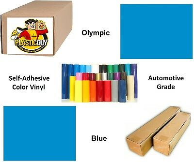 "Olympic Blue Self-Adhesive Sign Vinyl 15"" x 150 ft or 50 yd (1 Roll)"