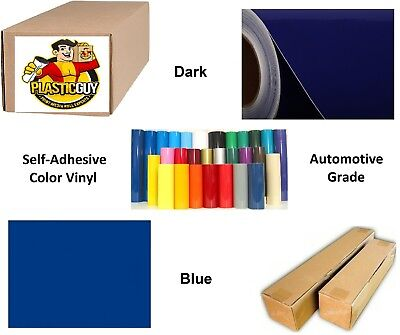 """Sapphire Blue Self-Adhesive Sign Vinyl 15"""" x 150 ft or 50 yd (1 Roll)"""