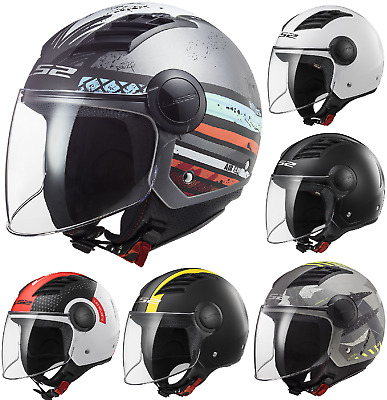 LS2 OF562 Airflow Urban Downtown Open Face Scooter Motorcycle Jet Helmet