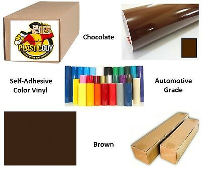 "36"" x 50yd 6yr outdoor sign vinyl film craft hobby roll sheet brown"
