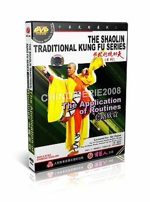 Shao Lin Traditional Kungfu Series The Application of Routines by Shi Dejun DVD