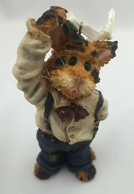 Boyds Bear Fletcher Puckerup...Holiday Kisses Ornament Cat Figurine 271801 NEW