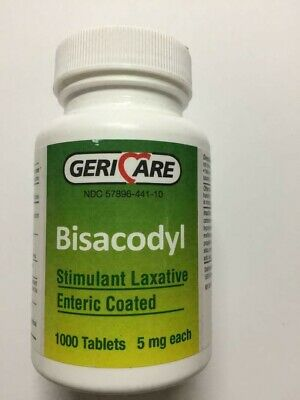 Bisacodyl 1000 Tablets (Total 1000 Tablets) RUGBY 5 Mg Exp: 01/15/2020