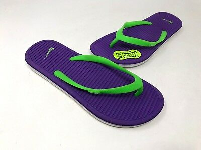 1027ccbf779d NEW! NIKE YOUTH Girl s Solarsoft 2 GS Flip Flop Sandals Purple 165L ...