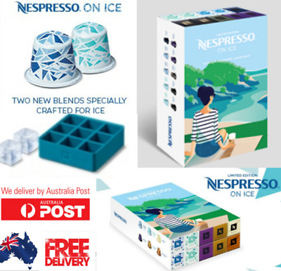 Nespresso Limited Ice Collection, 10 x sleeves 100 PODS  BONUS limited Ice Tray