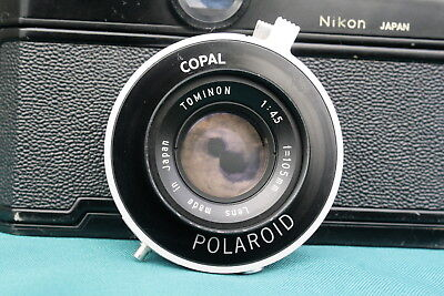 EX-Vintage Tominon 105mm 4.5 lens with Copal No. 0 shutter