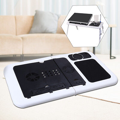 Laptop Table Tray Desk Foldable Bed Sofa Couch Stand Tray with Cooling Fan