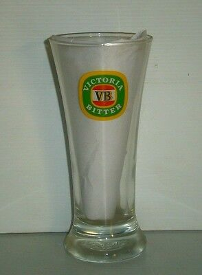 VB Victoria Bitter Beer brand new old logo label single design long drink glass