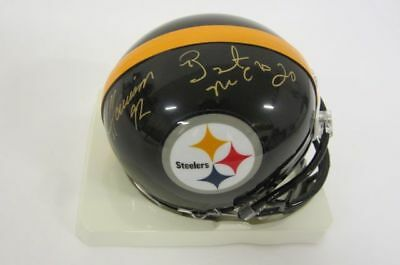 dbf5e34fb2e JAMES HARRISON and Bryant McFadden Pittsburgh Steelers autographed Mini  Helmet - $49.99 | PicClick