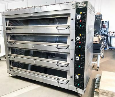 Sveba Dahlen Dc-44 Bakery Restaurant Equipment 16 Pan Electric 4 Deck Oven