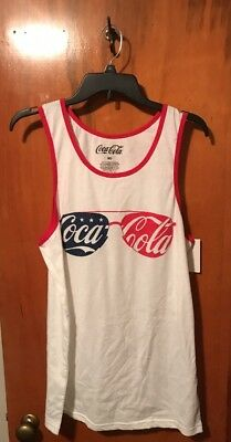 0040abea723e6 COCA-COLA COKE LOGO Sunglasses White NEW Men s Tank Top - Medium NWT ...