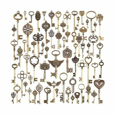 KeyZone Wholesale 69 Pieces Large Antique Bronze Vintage Skeleton Mixed Key C...