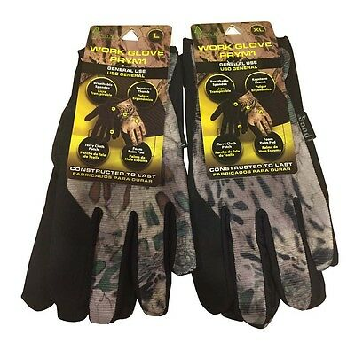 Prym1 Camouflage Work, Hunting, Yard Gloves Camo Size L or XL for Men or Women