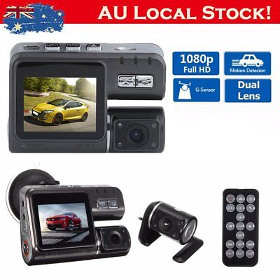 Dual Car Camera True HD 1080P G-sensor Recorder Crash Cam H264 Dash DVR Video OZ