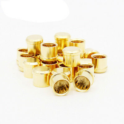 8pcsXgold plated Short Circuit Socket Phono Connector RCA  protect cover caps